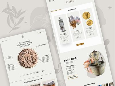The Roman Bath Spa website ui desktop web statue renaissance roman museum website design