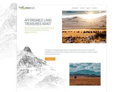 Morris Lands Website galacticideas webdesign ecommerce wordpress branding logo