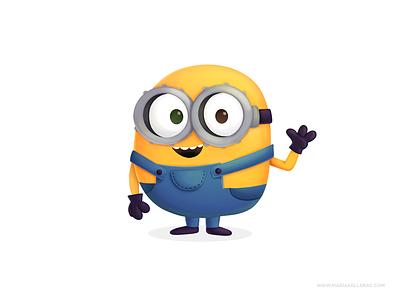 Minion mexico procreate cute movies children kidlitart cartoon character illustration kids fanart minions