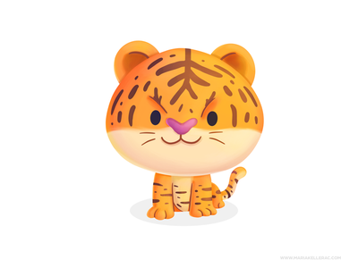 Tiger procreate kidlitart kids illustration mexico wild tigre tiger character cute children cartoon