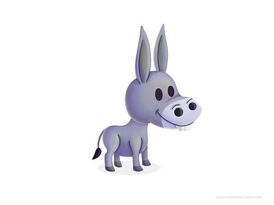 Donkey procreate burro donkey character kidlitart cartoon children cute kids illustration mexico