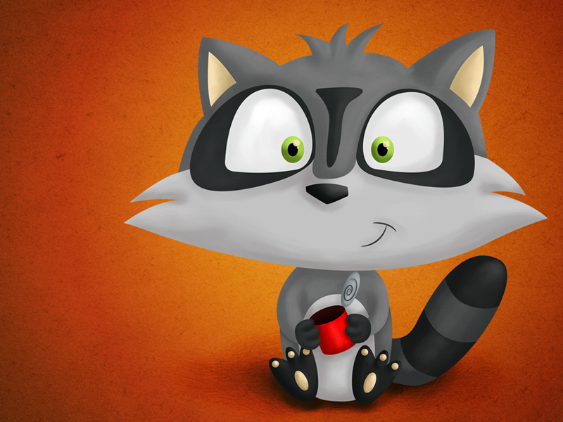 Cartoon Raccoon cartoon raccoon mexico illustration