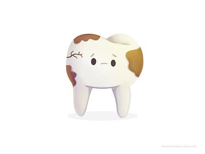Tooth dental care children hygiene dental diente tooth cartoon cute procreate kidlitart kids mexico illustration