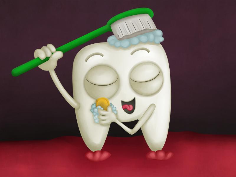 Открытки, картинки зубы прикольные