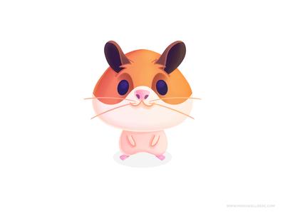 Hamster cutesy little friend pet hamster character ilustracion procreate kidlitart children cartoon kids mexico illustration