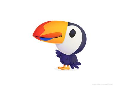 Toucan bird tucan toucan children cute ilustracion cartoon character kidlitart procreate kids mexico illustration
