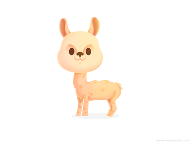 Llama mascot baby animal mexico procreate llama ilustracion cartoon cute character kidlitart kids illustration