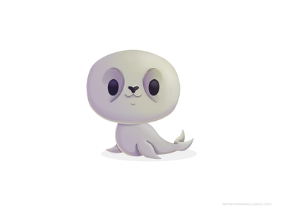 Seal アザラシ mascot ilustracion procreate cute cartoon character kidlitart mexico illustration sealife foca