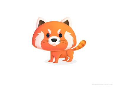 Red Panda cutesy mascot red panda procreate ilustracion kidlitart character children cute cartoon kids illustration mexico