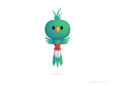Quetzal baby bird guatemala quetzal mascot characters procreate kidlitart children cute cartoon kids mexico illustration