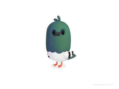 Pigeon pigeon baby bird paloma mascot character ilustracion cute procreate kidlitart children kids cartoon mexico illustration