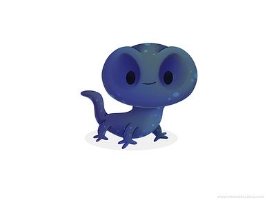 Salamander characters baby salamander mascot procreate cute kids kidlitart character children mexico illustration
