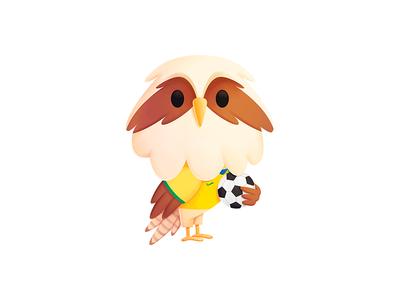 Simon - Brazil futbol football soccer cute mascot design verde amarella brazil character seahawk media seahawk mascot illustration