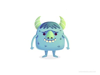 Monster children ilustracion procreate cute cartoon kidlitart kids monstruo mascot character design character monster illustration