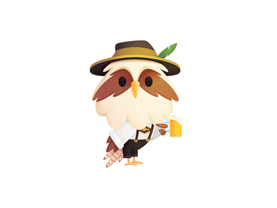 Simon - Germany oktoberfest simon seahawk media seahawk illustration mascot character design character design beer procreate branding