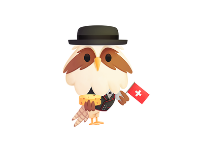 Simon - Switzerland branding cheese switzerland mascot character design outfits design illustration seahawk media seahawk media character simon