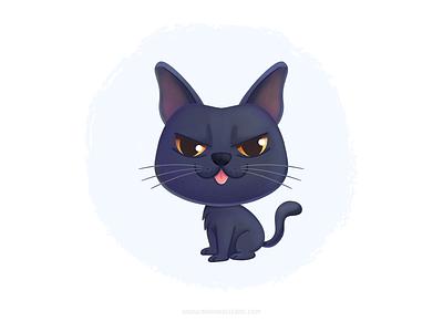 Cool Cat cute ねこ gato cat kidlitart cartoon procreate character children kids mexico illustration