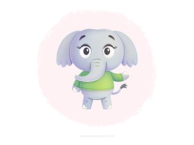 Pretty elephant 象 elephant kids design character kidlitart procreate children cute mexico cartoon illustration