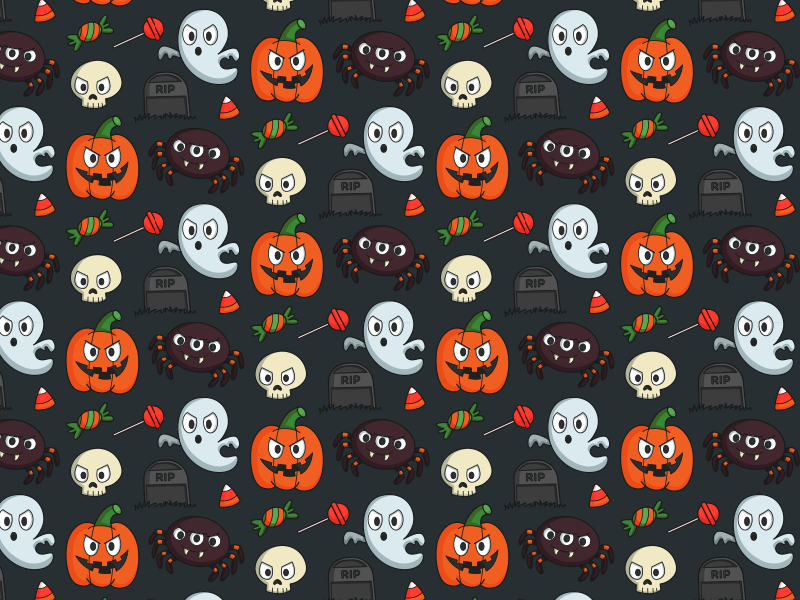 Halloween Pattern 2014 by Maria Keller - Dribbble
