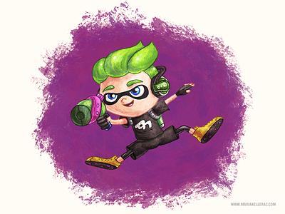Inking time! jump pintura switch videogames tinta mexico character paint fanart nintendo ink splatoon