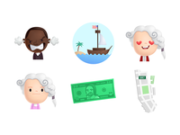 Hamilton stickers