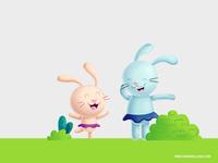 Dancing bunnies