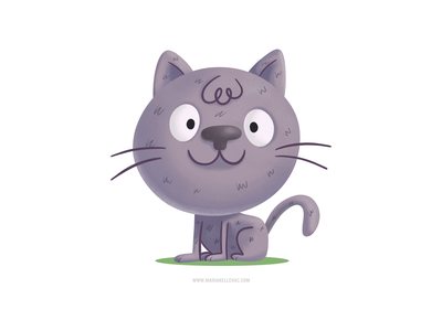 Gato ipad gato procreate app character cute cartoon illustration kids mexico cat