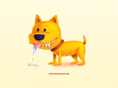 Drooling dog kids illustrator procreate cartoon kidlitart cute drooling dog illustration mexico