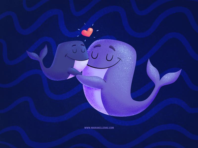 Pure love children art love sea whale kidlitart design ilustracion characters cartoon kids illustration mexico