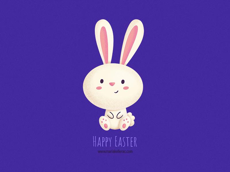 Happy Easter children bunny procreate mexico kidlitart conejo pascua easter rabbit characters cute cartoon kids illustration