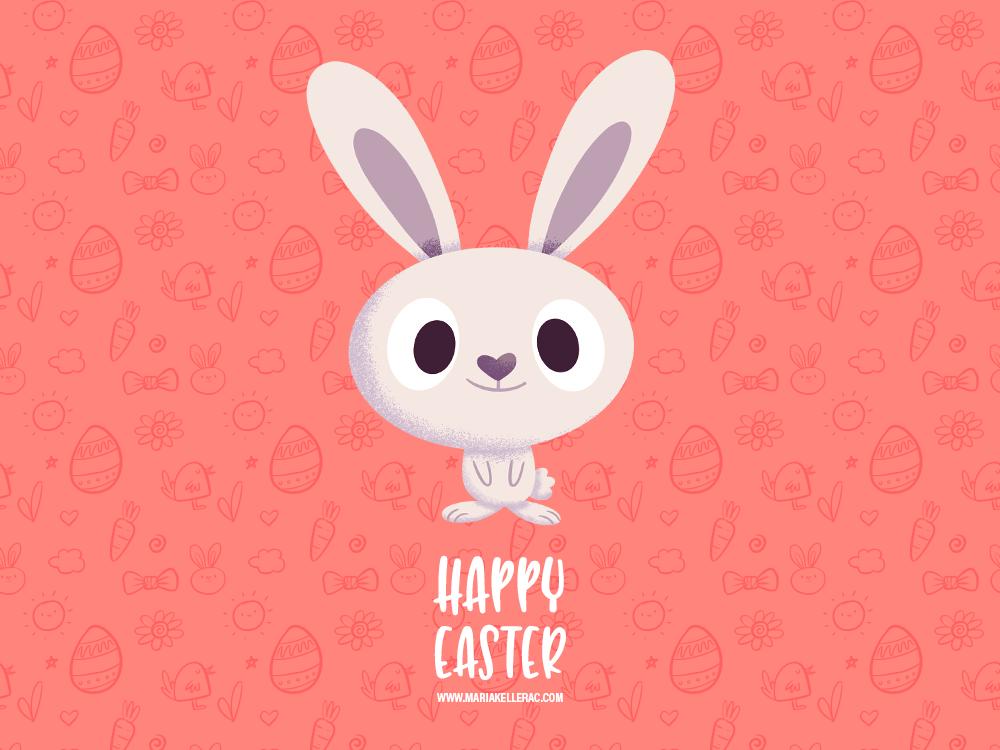 Easter 2 kidlitart kids cute cartoon children bunny rabbit procreate characterdesign illustration pascua easter mexico