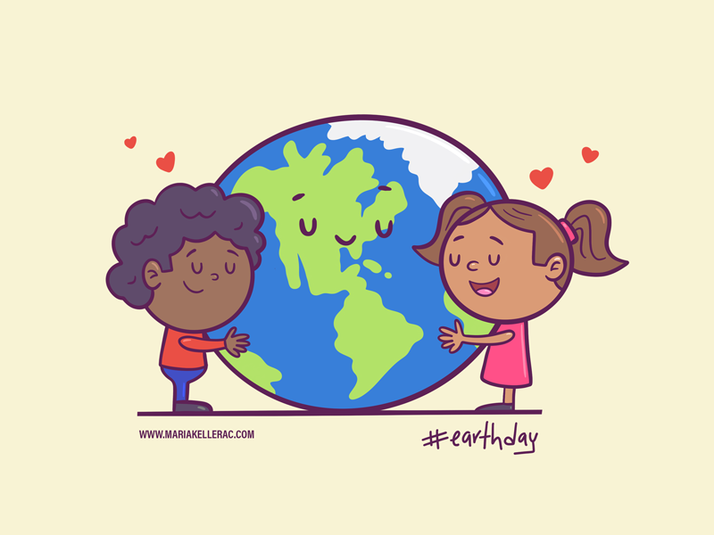 Earth day home tierra earth cartoons character cartoon procreate kidlitart love cute children kids earth day illustration mexico