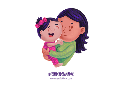 Dia de la madre cute cartoon childre kids baby kidlitartist kidlitart procreate characters illustration love mother mom mexico diadelasmadres mothers day