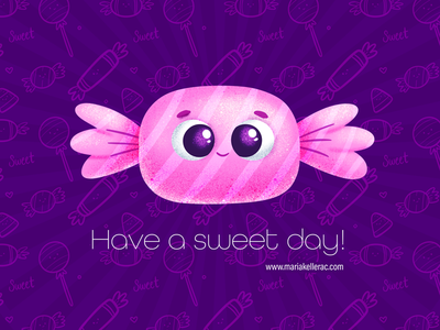 Have a sweet day! baby photoshop procreate kidlitartist dulce characters cute children cartoon mexico kidlitart day sweet candy illustration