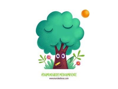 Dia Mundial del Medio Ambiente kidlitartist ipadart procreate tree envornment character kidlitart children cartoon cute illustration mexico