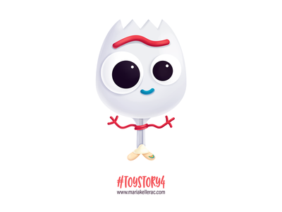 Forky toys movies kids cartoon mexico fanart disney kidlitart kawaii cute forky toy story illustration