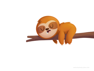 sloth ilustracion character procreate kidlitart children cute cartoon kids illustration mexico