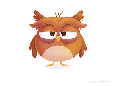 Sleepy Owl children sleepy owl procreate kidlitart cute kids cartoon characters mexico illustration