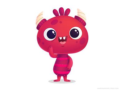 Monster monstruo monster kidlitart children procreate character kids cartoon cute illustration mexico