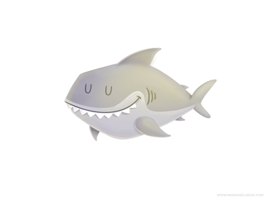 Shark procreate children mexico character kidlitart ocean shark cute cartoon kids illustration
