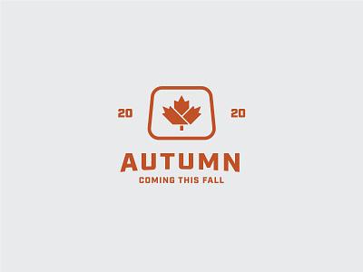 Autumn is coming vector branding industrial symbol design clean sign minimal icon logo