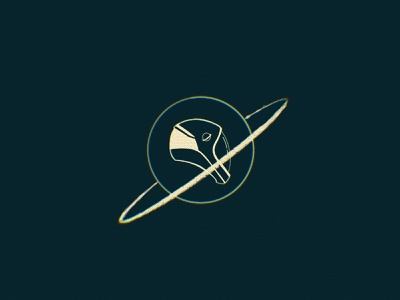 Astronaut's helmet logo halftone cosmos spacex nasa minimal illustration clean icon symbol sign logo drawing sketch procreate orbit rocket planet space astronaut helmet