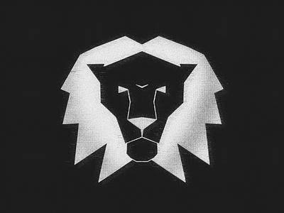 Lion symbol dark lines symmetry negative space noise glitch head lion ipadart tattoo procreate5x procreate branding design clean symbol sign minimal icon logo