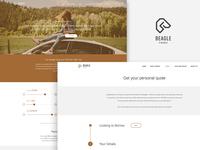 Beagle finance website design