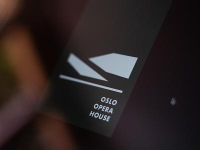 Oslo Opera House - logo concept shape norge simple clean minimalistic north norway opera oslo concept design logo