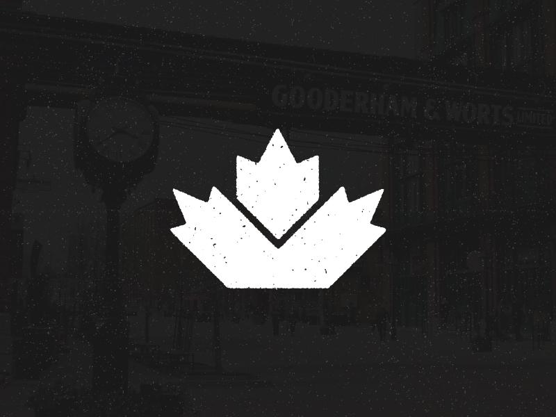 Canada Leaf - icon north rounded toronto maple grain vintage logo symbol icon leaf canada