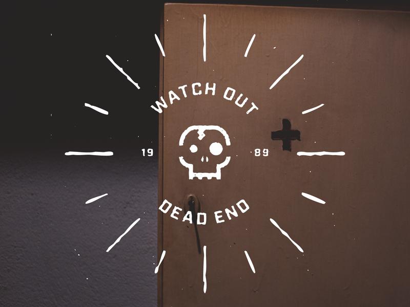 Watch out! pantone black yellow typography illustration sticker symbol minimal design sign icon logo