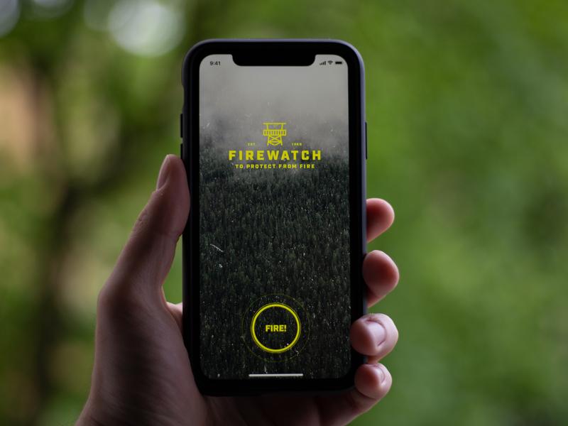 Firewatch iphone app concept flinto fire iphone mobile app mobile clean ios sketch ui app minimal design