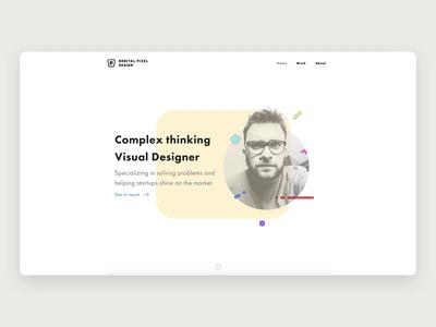 My new website responsive design sketch website builder ux ui interaction clean minimal web rwd webflow website