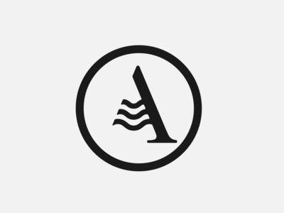 A wave 2 typography branding industrial symbol clean sign design minimal icon logo